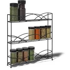 3 tier kitchen cabinet organizer spectrum diversified designs countertop 3 tier spice rack black