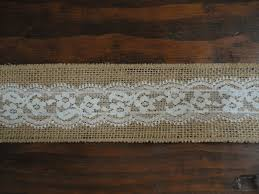 burlap and lace ribbon 2 5 inch burlap ribbon with white lace overlay burlap lace ribbon