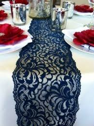 navy lace ribbon wide table runners foter