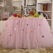 Pink Table Skirt by 2015 American Style Wedding Tutu Table Skirts With Petals 91 5 80