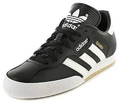 black samba adidas samba black textile leather indoor soccer shoes