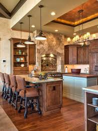 inspiring 3 amber rustic kitchen pendant lights over kitchen bar