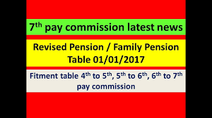 new 2015 orop pension table revised pension family pension table 01 01 2017 youtube