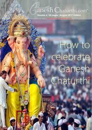 ganesh chaturthi how to celebrate ganesh chaturthi 2017