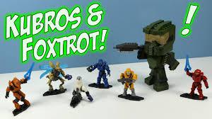 halo mega bloks kubros master chief and foxtrot series minifigures