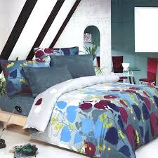 Duvet Sets Twin Leaf Print Bedding Teen Duvet Cover Sets Twin Or Full Gray