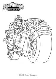 power rangers with a motor bike coloring page more power rangers