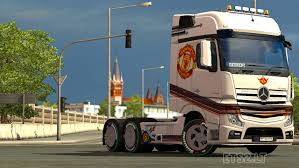 mercedes in manchester mercedes mp4 manchester united skin ets 2 mods