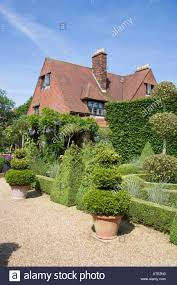 Arts And Crafts Garden - english arts and crafts country house with garden uk norfolk stock