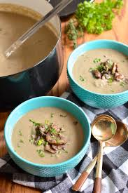 cauliflower cream of mushroom soup