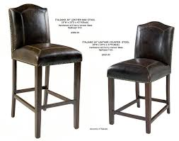 Brown Leather Bar Stool Old World Leather Bar Stools