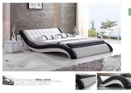 luxury modern double bed design furniture leather bed for sale