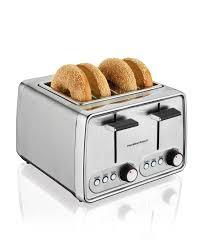 Bread Toasters Amazon Com Hamilton Beach Modern Chrome 4 Slice Toaster 24791