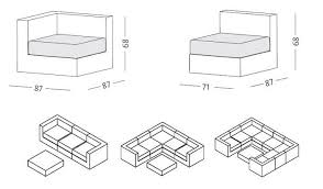 Sectional Sofa Dimensions by Cube Sectional Sofa By Ethimo