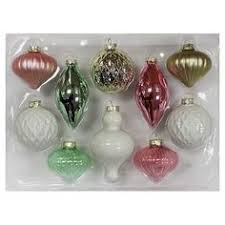 Glass Christmas Ornament Sets - 4ct watercolor glass christmas ornament set wondershop