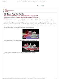 how to make a birthday cake or wedding cake pop up card creative