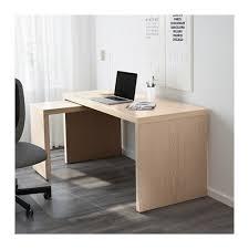 bureau avec tablette coulissante malm bureau avec tablette coulissante plaqué chêne blanchi 151x65 cm