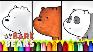 we bare bears coloring book ice bear and panda grizzly coloring