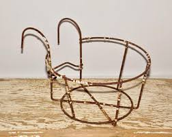 Shabby Chic Wire Baskets by Wire Hanging Basket Etsy