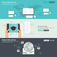design online education online education banners set vector free download