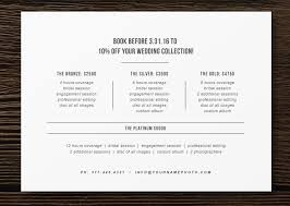 wedding photography pricing pricing guide flyer template for photographers wedding