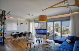delineating space effortlessly urbane penthouse apartment in israel