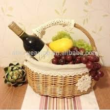 wedding gift decoration wholesale decorative empty indian wicker wedding gift fruit basket