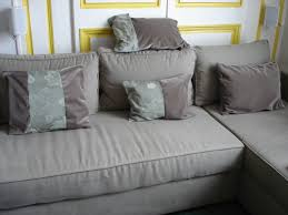 Sofa Slipcovers With Separate Cushion Covers by Inviting Grey Fabric Cover With Several Cushion In Floral Motif