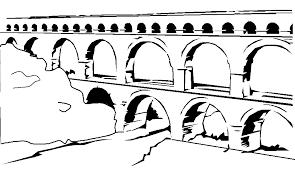 coloring aqueduct picture