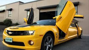 2012 camaro transformers edition price aussies turn bumblebee camaro into gullwing door limo w