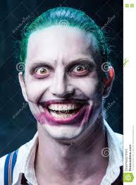bloody halloween theme crazy joker face stock photo image 76787769