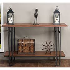 wood and iron sofa table amazon com baxton studio newcastle wood and metal console table
