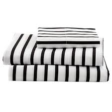 Black And White Bed Sheets Black And White Stripe Sheets Twin The Land Of Nod