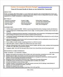 Senior Accountant Sample Resume by 33 Accountant Resume Samples