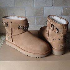 s ugg australia mini deco boots ugg australia 1013867 che 7 neva deco studs suede sheepskin boots