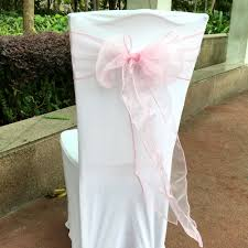 wedding chair sash aliexpress buy 50pieces light pink color organza bands sash
