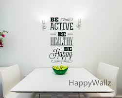be active be healthy be happy motivational quote wall sticker diy be active be healthy be happy motivational quote wall sticker diy wall decal custom colors decorative inspirational quotes q116 in wall stickers from home