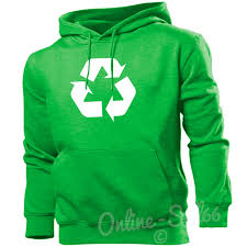 recycling environment funny geek hoodie promotion top waste