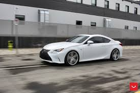 white lexus white lexus rcf on vossen wheels has the look of a cult car