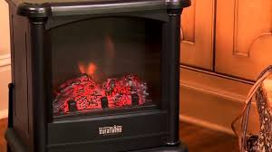 duraflame 450 black freestanding electric stove dfs 450 youtube