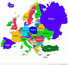 map of euorpe european countries in world map major tourist