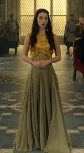 reign tv show hair styles serie reign mary stuart mustard dress pesquisa google kings