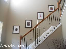 Hall And Stairs Ideas by Incredible Staircase Wall Decorating Ideas Ideas To Staircase Wall
