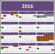 excel calendars
