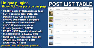 wordpress search layout wordpress post list table by gzlab codecanyon
