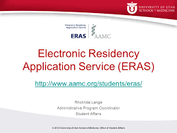 electronic residency application service eras ppt video online
