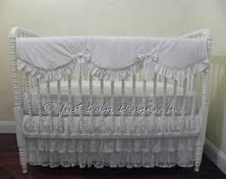 lace crib skirt etsy