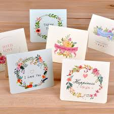 blessing card european style creative flower greeting card diy folding christmas