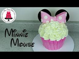 Easy Giant Cupcake Decorating Ideas Giant Buttercream Minnie Mouse Cupcake Cake How To With The