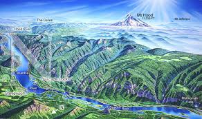 Mt Hood Trail Map Trail Map Of Columbia River Gorge U2013 Taconic Golf Club